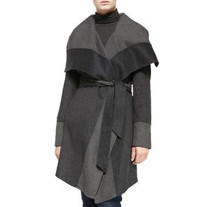 Diane von Furstenberg Wool Blend Wrap Coat